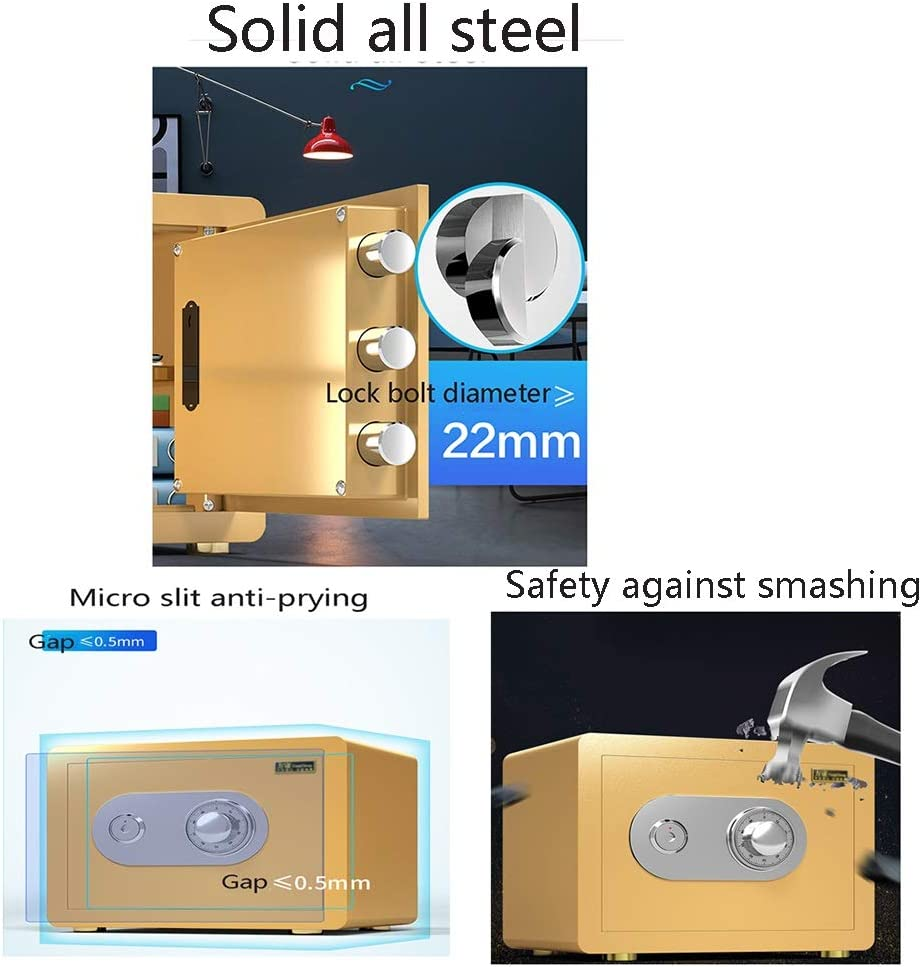 ZCF Security Safes Security Safes Color : Style1, Size : 25x35x25cm 25//30 // 45cm Height Fireproof Deposit Box for Home Includes Keys Office Hotel Jewelry Cash Use Storage Cabinet