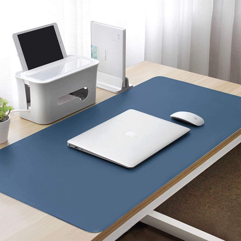 47x24inch AMYDREAMSTORE Multifunctional Large Desk Mat,Office Desk Pad Desk Mouse Pad,pu Leather Desk Mouse Pad Ultra Thin Waterproof Oversize Mouse Pad-Blue 120x60cm