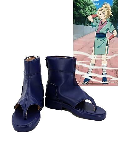 NARUTO Anime Childhood Tsunade Cosplay Shoes Boots Custom Made