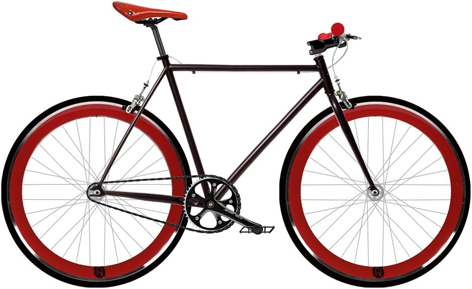 Mowheel Bicicleta Fix 2 roja. Monomarcha Fixie/Single Speed. Talla 56: Amazon.es: Deportes y aire libre