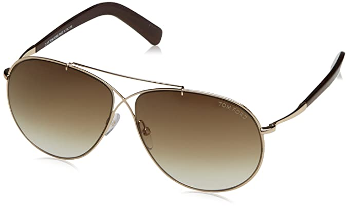 5829e769221 Tom Ford 0374S 28F Gold Eva Aviator Sunglasses Lens Category 2 Lens Mirrored