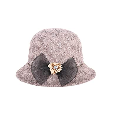 843c8b6b Women Winter Wool Cloche Hat Tassel Casual Warm Bucket Hat Vintage Bowler  Classic Outdoors (Color : Brown, Size : One size): Amazon.co.uk: Clothing