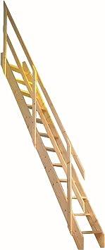 Dolle ahorro de espacio escalera de madera de Amsterdam Kit (Loft Escalera) – apto para suelo altura hasta 2980 mm: Amazon.es: Bricolaje y herramientas