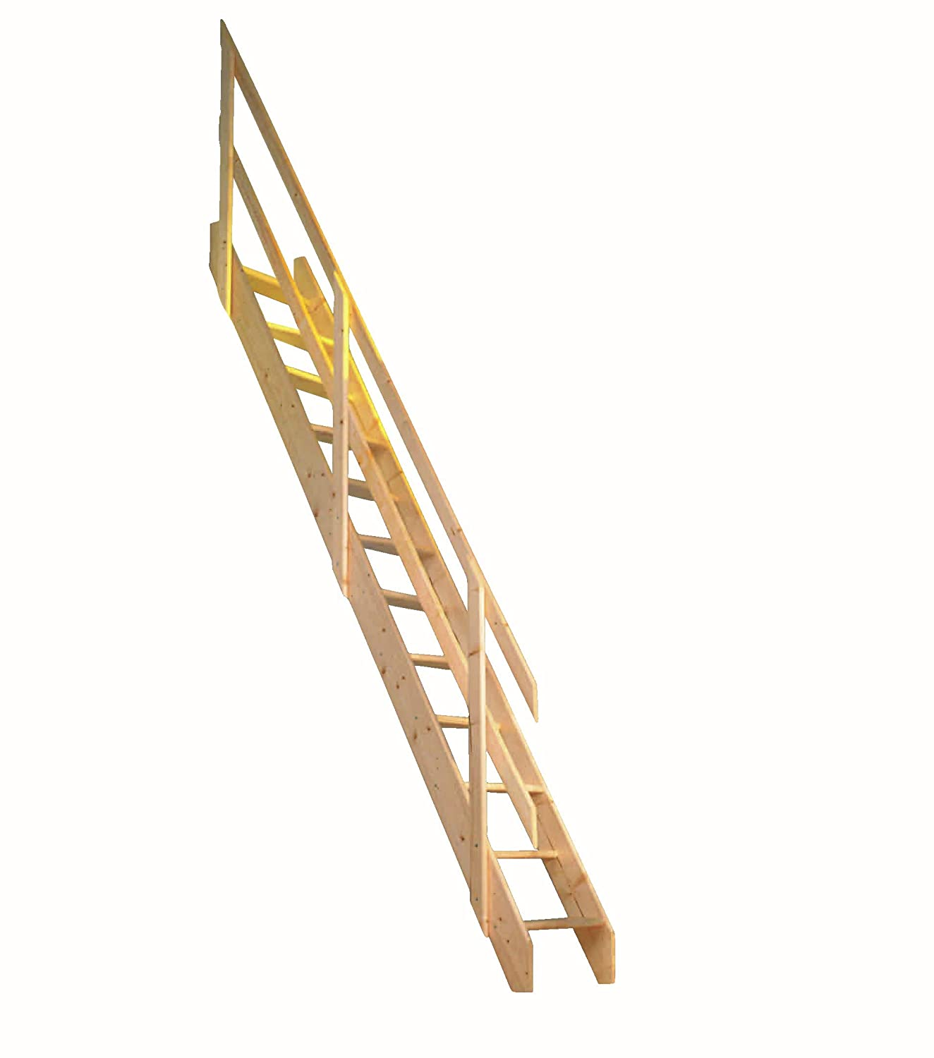 Dolle Amsterdam Wooden Space Saver Staircase Kit (Loft Stair) - Suitable for a Floor Height up to 2980mm