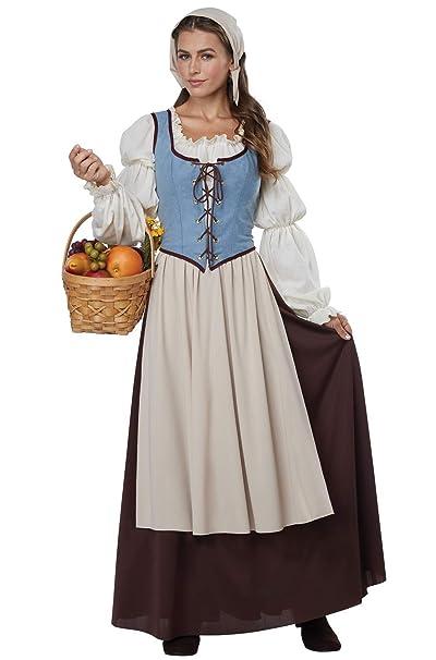 Amazon.com: Disfraz de campesina renacentista California ...