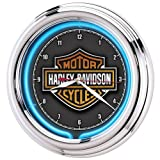 Harley-Davidson Essential Bar & Shield Neon Clock (Kitchen)