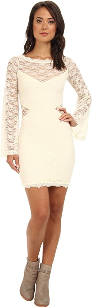 Free People Womens Lovely In Lace Bodycon Dress
