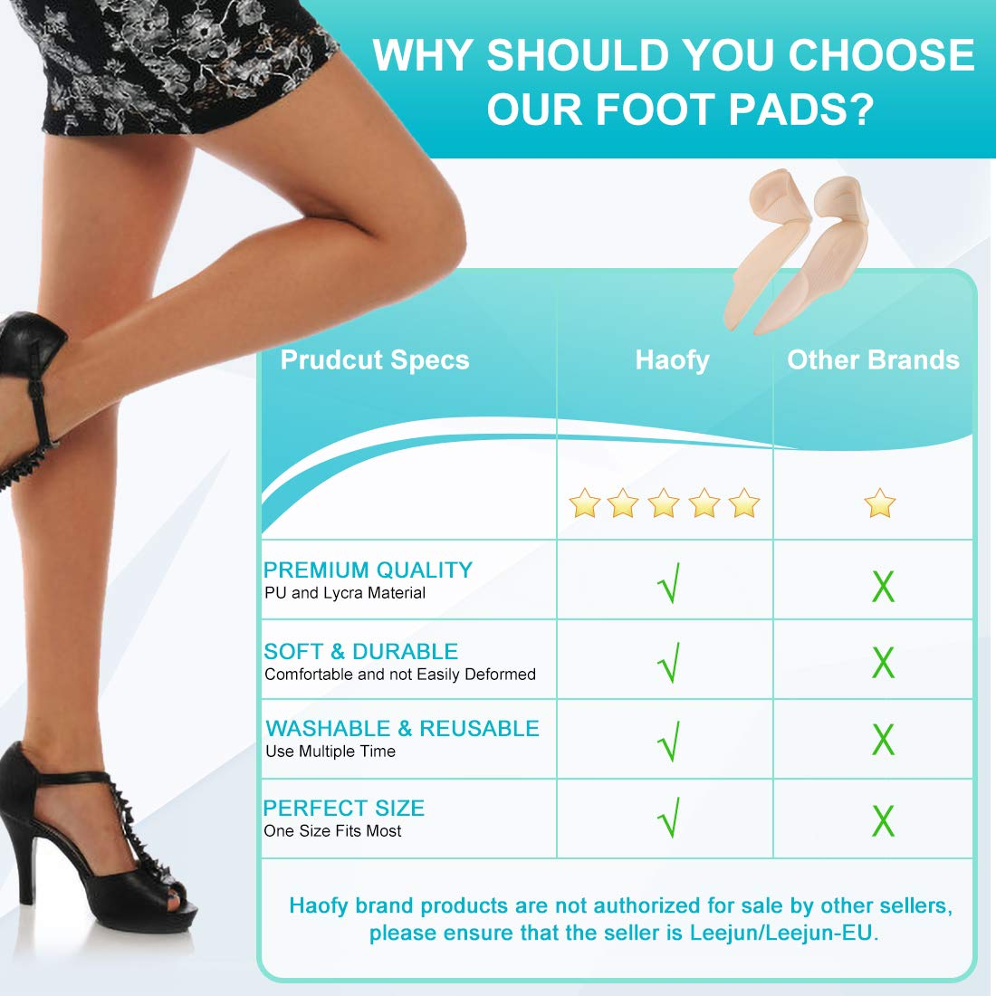 2pcs Silicone Long term Wear High Heels Pointed Shoes