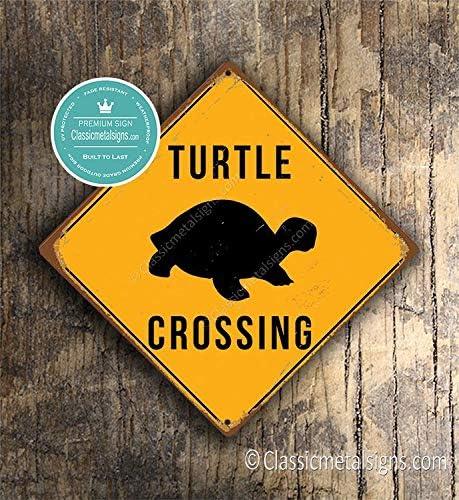 CELYCASY Panneau de Croisement de Tortue pour Animal Domestique Panneaux davertissement Tortue D/écor Tortue