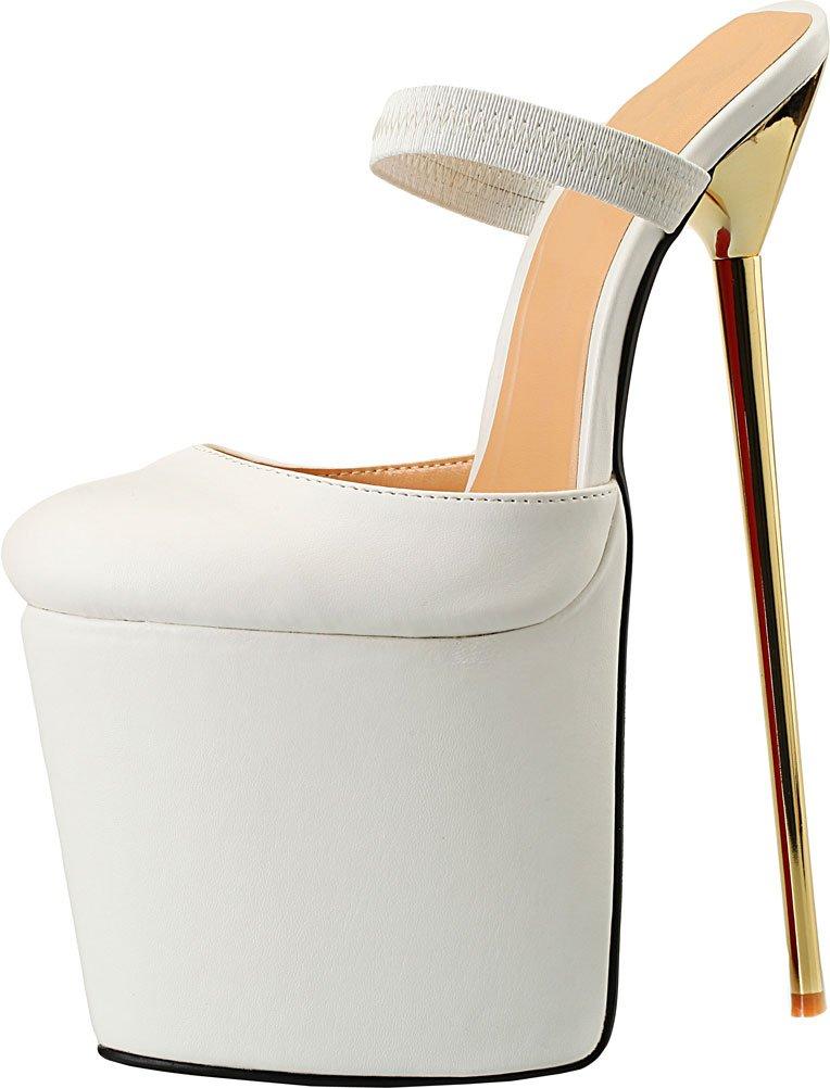 SHUT UP B01L55DXUC Sandales Plateforme Femme UP Femme Blanc b6e7185 - automaticcouplings.space