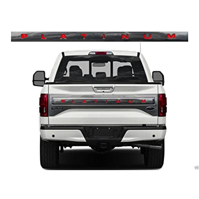 BDTrims Tailgate Raised Letters Compatible with 2015-2020 F-150 Platinum Models (Red): Automotive