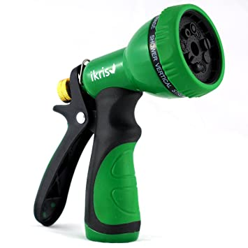 Amazoncom ikris Garden Hose Nozzle 9 Pattern Metal Sprayer with