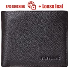 RFID Blocking Genuine Leather Handmade Fold Wallets for Men Money Clip Credit Card Wallet