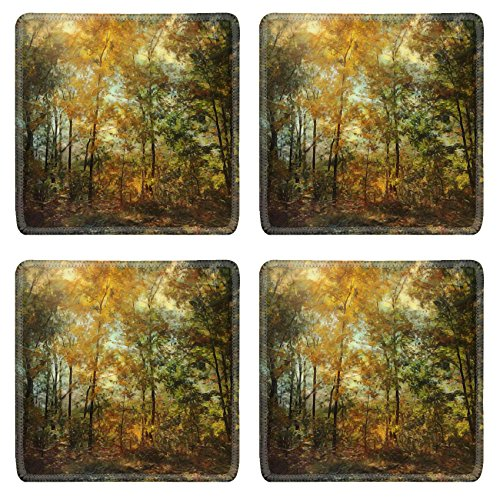 MSD Square Coasters The goldenrod is yellow The corn is turning brown The trees in apple orchards With fruit are bending down Helen Hunt Jackson Natural Rubber Material Image 15486210491
