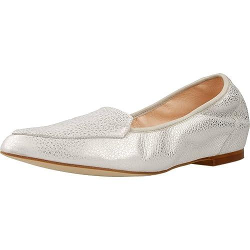 Mocasines para Mujer, Color Plateado, Marca MIKAELA, Modelo Mocasines para Mujer MIKAELA 17020 Plateado: Amazon.es: Zapatos y complementos