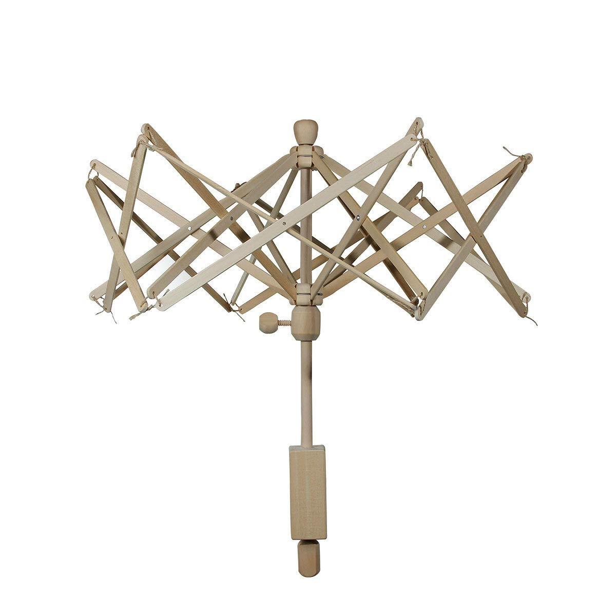 FidgetKute Umbrella 24'' New Wooden(Birch) Swift Yarn Winder Holder Knitting Machine 1 pc