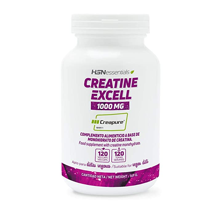 Creatina en Cápsulas | Creatina Excell 1000mg (100% Creapure) de HSN Essentials |