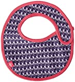 Lassig Waterproof Washable Small Bib with Velcro Stay-dry Leak-proof Keeps Stains Off Clothes, Deer Viola