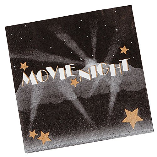 Movie Night Beverage Napkins - 16-pack of Movie Night Party Beverage Napkins