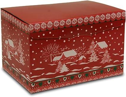 Set de 20 Cajas rojas de carton Navidad (40x28x25 cm.): Amazon.es: Oficina y papelería