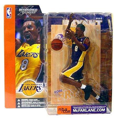 McFarlane Toys NBA Sports Picks Series 1 Action Figure Kobe Bryant (Los Angeles Lakers) Purple Jersey (1 Mcfarlane Sports Picks Toys)