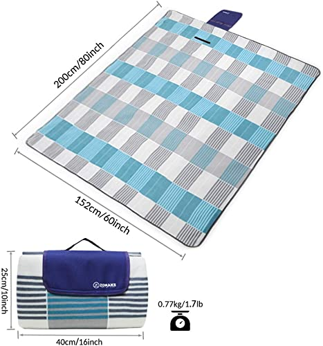 ZOMAKE Picnic Blanket Waterproof Extra Large