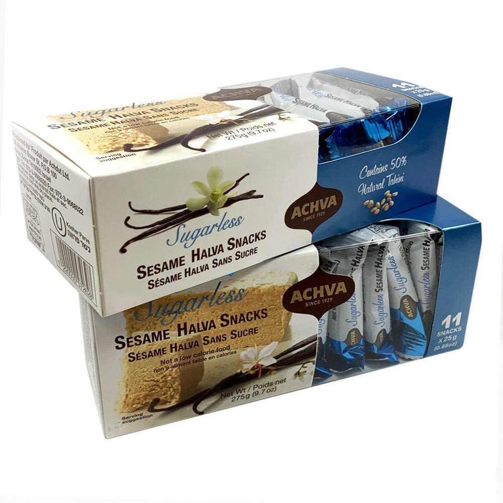 Sesame Halva Snacks, Sugarless Sweets 275 g | 9.7 oz (Pack of 2)