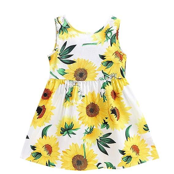 50d6f4e8884d Luckycat Verano Vestidos para niña Vestidos Bebe niñas Ceremonia Sin ...