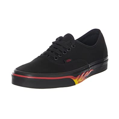 9ad13ffa77a0dd Vans Authentic (Flame Wall) - Black RED (10.5 UK)  Amazon.co.uk ...