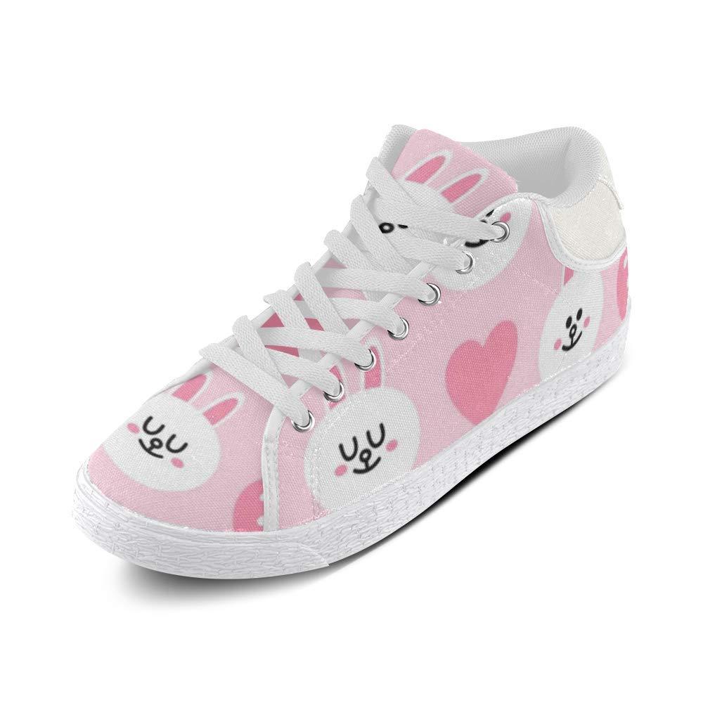 Cute Pink Rabbit Canvas Chukka Canvas Womens Shoes