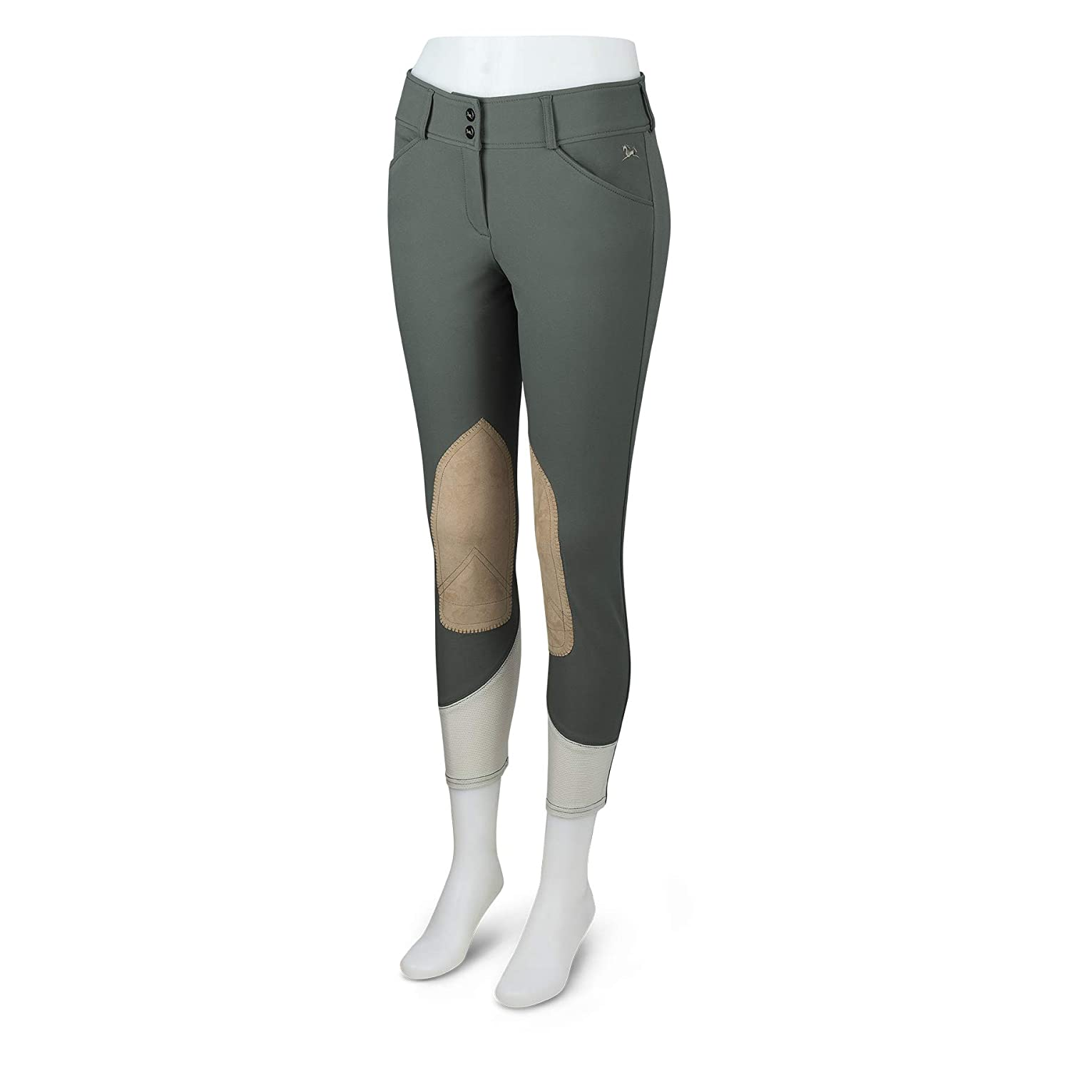 Olive, 24 RJ Classics Gulf Low Rise Front Zip Breeches