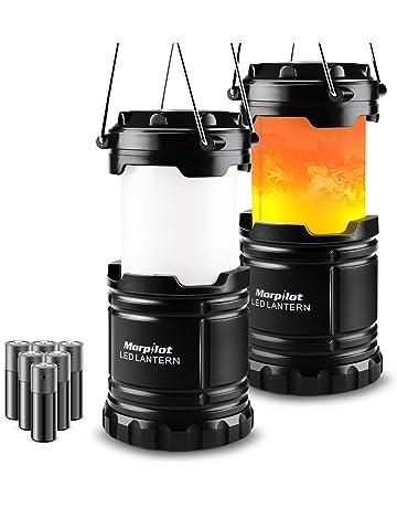 Farol de Camping, Morpilot 2 unidades Lámpara de Camping plegable Led con 2 modos iluminación
