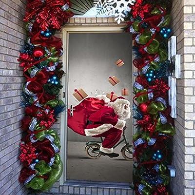 CYCTECH® Merry Christmas 3D DIY Art Decal Acrylic Renovation Waterproof Self-adhensive Vinyl Door Wall Stickers Window Home Decoration