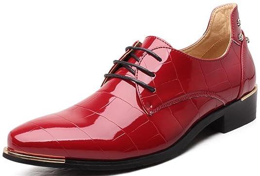 DADAWEN Herren Oxfords Schnürhalbschuhe Business Stil Leder Schuhe-Blau 42 gEVA09uf0R
