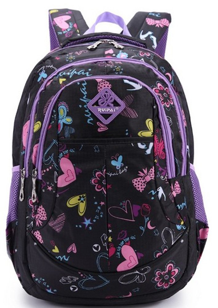 Eshops School Bags For Girls Backpacks For College Casual Leisure Daypack Black 14