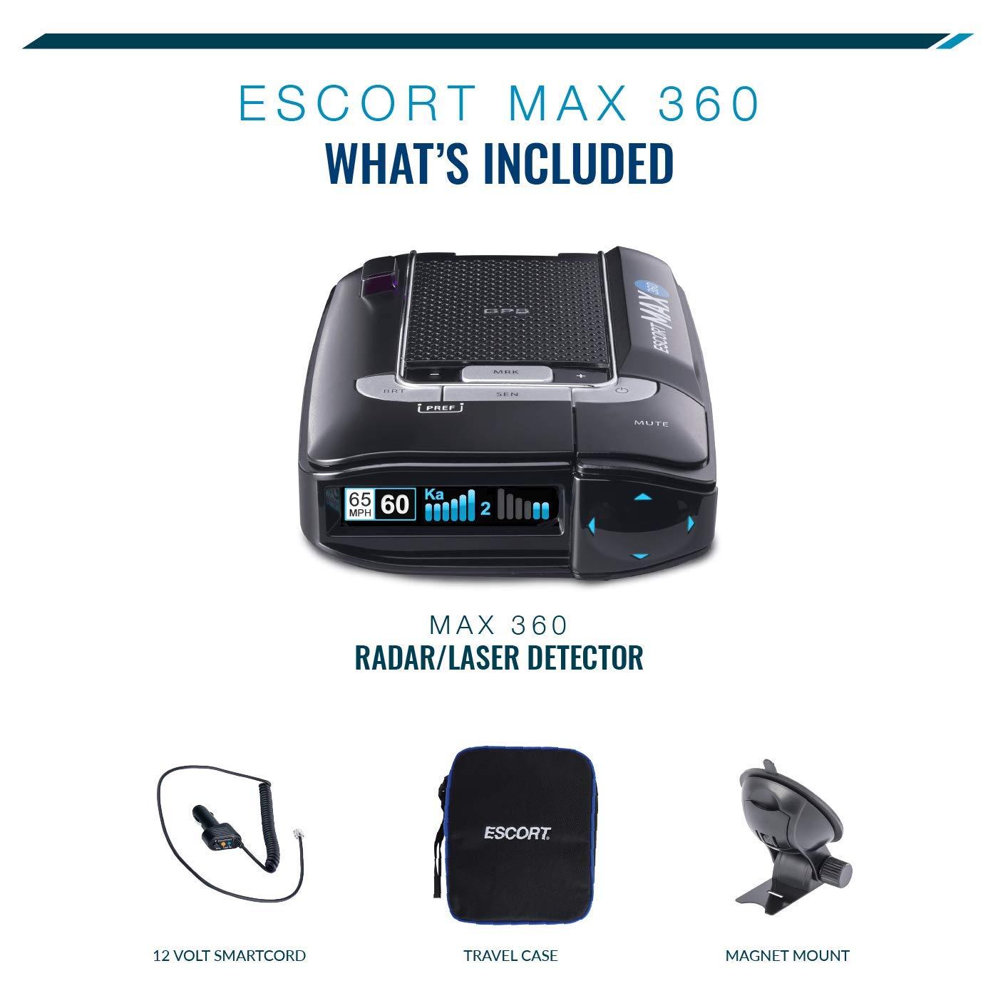 ESCORT MAX360 - Laser Radar Detector, GPS for Fewer False Alerts, Lightning Fast Response, Directional Alerts, Dual Antenna Front and Rear, Bluetooth, Voice Alerts, OLED Display, Escort Live! by Escort (Image #2)