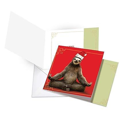CQ6255AXSG-B12x1 - Juego de 12 tarjetas de Papá Noel para ...