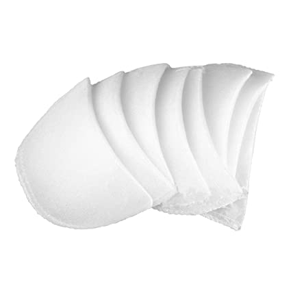 CHICTRY 4 Pairs Shoulder Pads Soft Covered Set-in Sewing Foam Pads Raglan  Shoulder Enhancer for Blazer Blouses T-Shirt Clothes White L