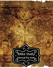 Bible Study Journal For Men: Antique Map Cover : Bible Study Organizer & Notebook / Bible for Creative Journaling : A Creative Christian Workbook: A Simple Daily Prayer Gratitude Journals Guide.