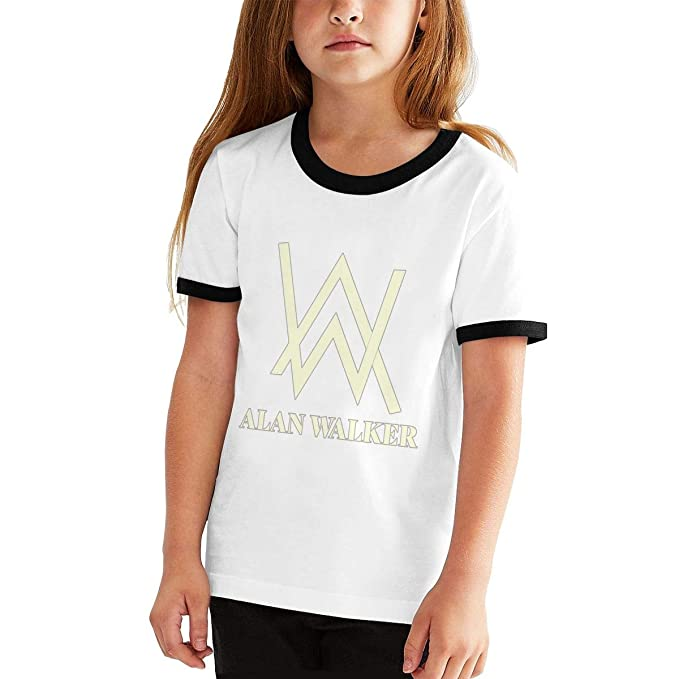 a267defb4 Amazon.com: Alan Walker Logo Teen Boys and Girls Anime Classic Short Sleeve  Tee Shirt: Clothing