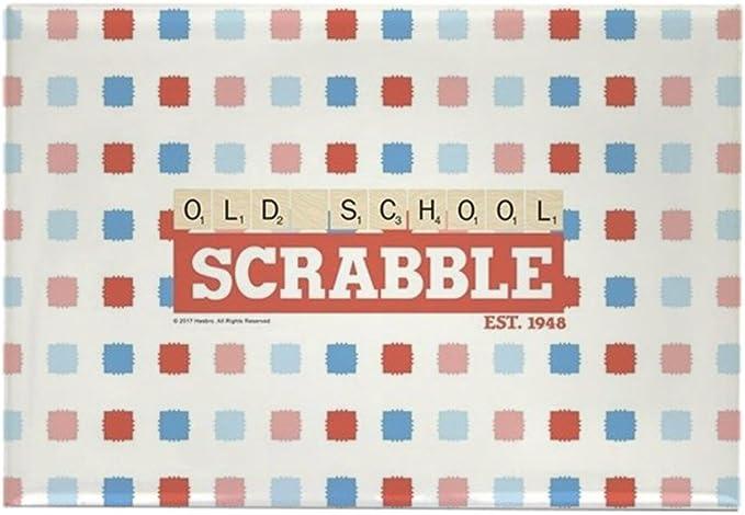 CafePress - Imán rectangular para nevera, diseño de Scrabble de la vieja escuela, 5 x 7,6 cm: Amazon.es: Hogar
