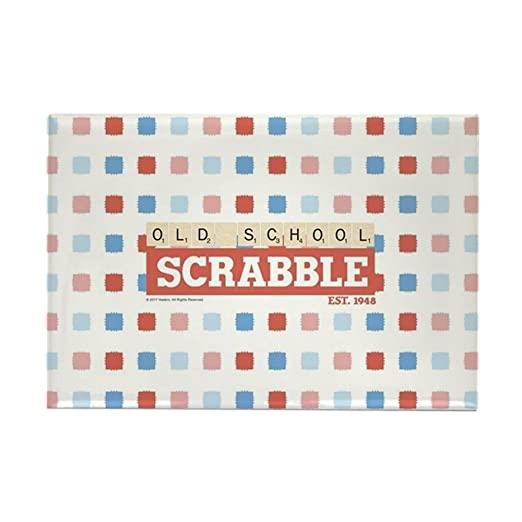 CafePress - Imán rectangular para nevera, diseño de Scrabble de la ...