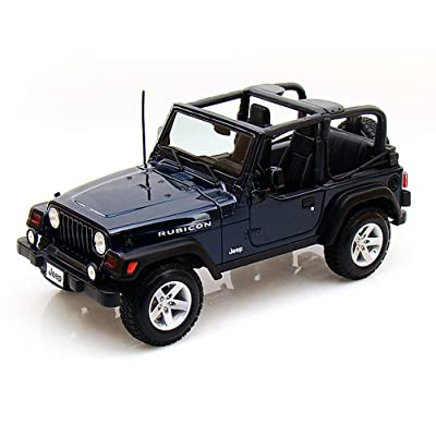 Maisto Jeep Wrangler Rubicon, Blue 31663 - 1/18 Scale Diecast Model Toy Car: Toys & Games