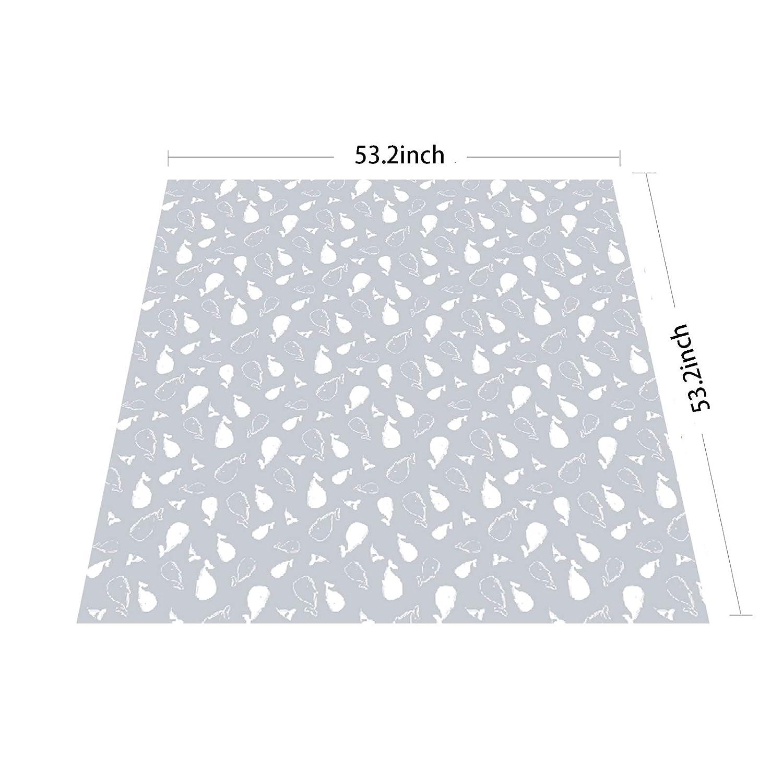 Washable Mess Mat and Table Cloth Highchair Floor Mat Bear Womumon 53 Waterproof Spill Mat Non-Slip Splat Mat Baby Splash Mat for Under High Chair//Arts//Crafts