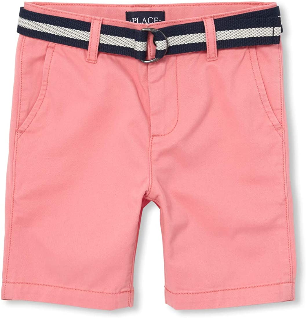 The Childrens Place Big Boys Belted Chino Shorts