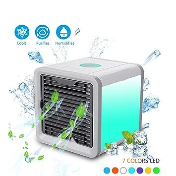 Split- & Inverter-klimageräte Mini Klimagerät Luftkühler Air Cooler Usb Mobil Luftbefeuchter Ventilator Weiß