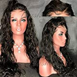 Fushen Hair 13x6 Lace Front Human Hair Wigs for Black Women 8A Virgin Brazilian Natural Wave Lace Front Wigs with Baby Hair (16 inch with 150% density, lace front wig)
