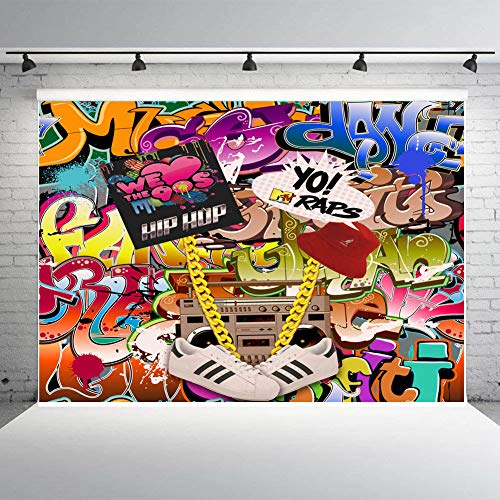 Hip Hop Decorations - Fanghui 80s 90s Theme Party Decor