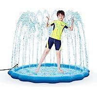 Almohadilla de rociador para niños de 68 pulgadas, alfombrilla de juego inflable para niños pequeños juguetes de agua…