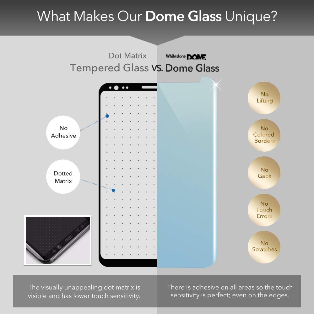 Amazon.com: Dome Glass Galaxy Note 9 Screen Protector Tempered Glass ...